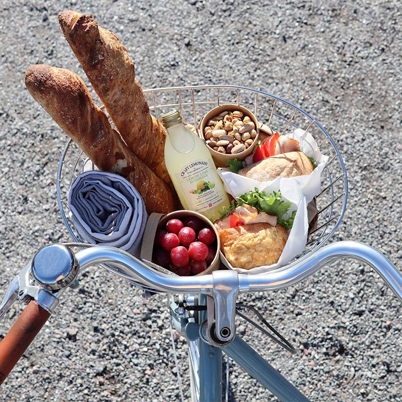 cykelkorg med matsäck