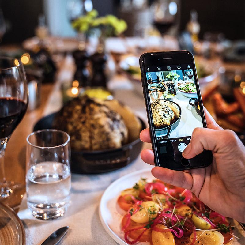 fotografering av mat med mobilkamera